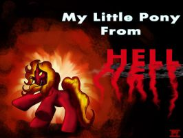 little pony from hell by IDROIDMONKEY
