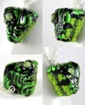 Zombie Birthday Cake Necklace by NeverlandJewelry