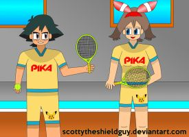 Ash and may Get's Play Tennis by scottytheshieldguy