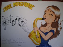 Sax Machine by puchikoo