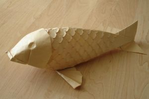 Scaled Koi-Lang by origami-artist-galen