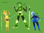 Permanent Gem Fusion- Demantoid Garnet by XombieJunky
