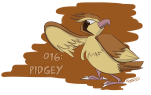 016: Pidgey by Speedvore