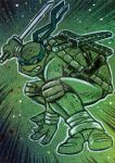 TMNT Leonardo Sketch Card by timshinn73