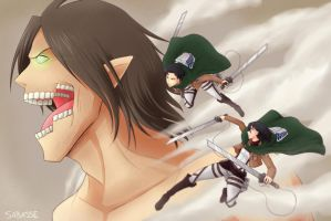 Attack on Titan by SaBasse