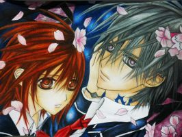 yuki and zero Vampire knight by Polaara