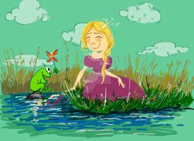 Princess and Frog by sttaska