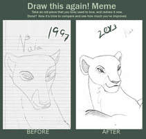Before And After Nala by mrspokemon