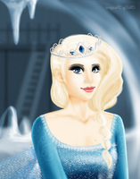 Elsa - the snow queen (Frozen) by chillydragon