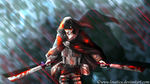 TLoZ x SnK - Dark Link [Blood] by Loustica