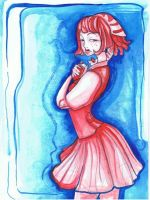 Ophelia in red and blue by Midnight-cat