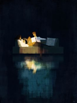 My cat, my couch, my man, my space. by PascalCampion