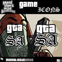 GTA San Andreas Icons by monolistic