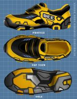Bumblebee-inspired shoes by dylanliwanag