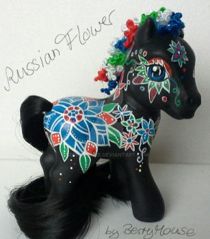 My little pony Custom Russian Flower by BerryMouse