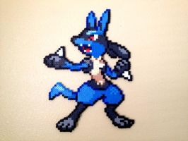 Lucario - Fuse Beads by chocovanillite