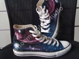 meteor shower hand painted converse by elleflynn