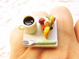 Fruit Pie and Coffee Ring by souzoucreations