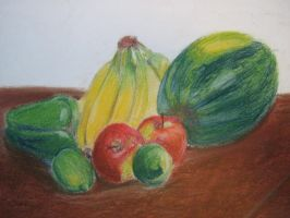 Fruit Pastel Still Life by Mouse-sandwich
