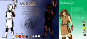 Ref-Sheet: GLaDOS/PotatOS by SCHNAUT