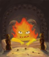 6: Calcifer's fire by EsenEcho