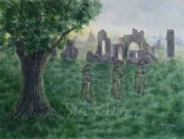 The Ghostly Monks. by SueMArt