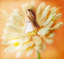 The Flower Girl by queenphotoshop