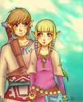 Skyward Sword - Link and Zelda by LooneyLolita