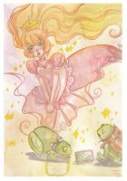 Watercolor: La Princesse Et La Grenouille by hiromihana