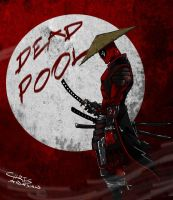 samurai deadpool by chrisawayan