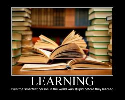 Motivational Poster: Learning by warr119