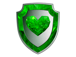Crystal Heart Shield - EXTRAS GREEN by SwedishRoyalGuard