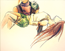 Illustration: FFVII by EleanorAnsell