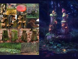 Mushroom Kingdom Before and After by mary-petroff