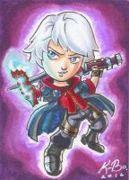 Devil May Cry Nero Art Card Commish by kevinbolk