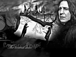 Black and white. Snape. by MarySeverus