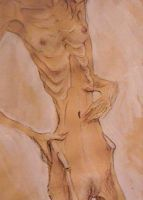 with the eyes of egon schiele by boneskine