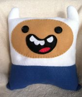 Adventure Time Finn Pillow by MBrazee