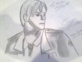 Quick Sketch of James Sunderland by KeeperNovaIce