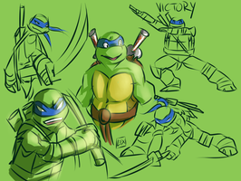 TMNT: Leo Doodles by Fulcrumisthebomb