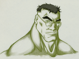 HULK with glasses -Color- by WOWandWAS
