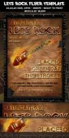 Rock Party-Concert Flyer template by Hotpindesigns