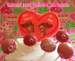 Bambi and Feline Handmade Valentines Chocolate by Demi-Plum