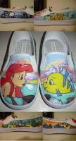 Little Mermaid Shoes by awsumtinkerbell