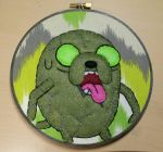 Zombie Jake Embroidery Hoop  by monstersbyechidna