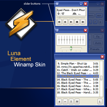 Luna Element Winamp Skin **WIP by Blue-Fighter