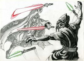 Lightsaber Duel by cm023