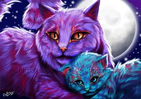 Dash of Color - Cats by Queen-Uriel