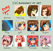 2010 Summary of Art by Dragoncookie
