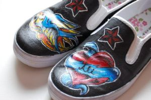 Tattoo shoes by moooonmonster